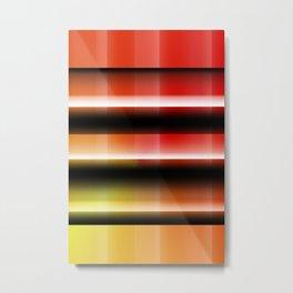 Pattern orangered 1 Metal Print