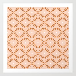 Vines Peach Art Print