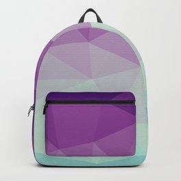 violet and blue polygon Backpack