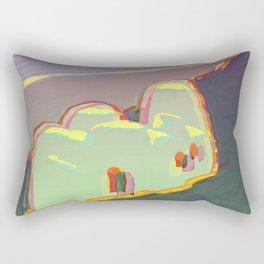 Red Moon Summer Vibrations Rectangular Pillow
