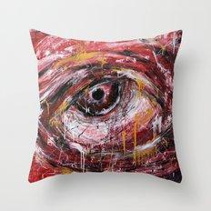Left red eye Throw Pillow