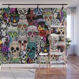 Halloween skulls Wall Mural