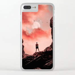 Red Evening Sky Clear iPhone Case