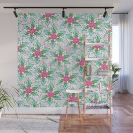 Doodly Flowers Wall Mural