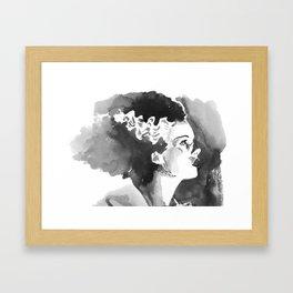 The Bride (profile) Framed Art Print