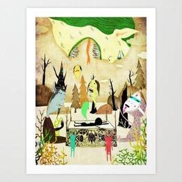 Dead Bunny Art Print