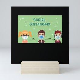 Pandemic Social Distance Mini Art Print