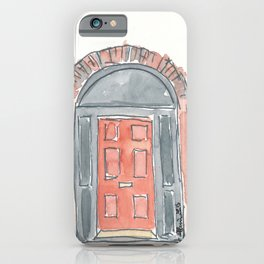 Ireland Dublin Red Old Door iPhone Case