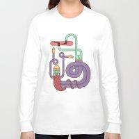 snowboarding Long Sleeve T-shirts featuring Go Snowboarding by Alejandro Giraldo