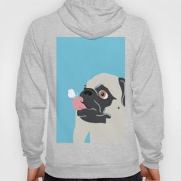 Pug Butterfly Flat Graphic Hoody