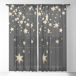 Golden Stars 3 Sheer Curtain