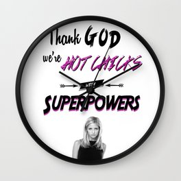 Hot Chicks With Superpowers Wall Clock