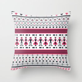 Painted stairs Throw Pillow