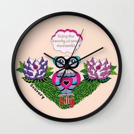 Enjoy the beauty of small moments Wall Clock