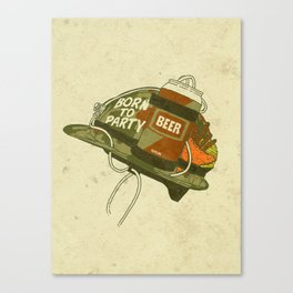 Born to party Canvas Print