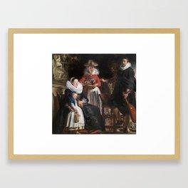 JORDAENS, JACOB Amberes, 1593 - Amberes, 1678 Miniatura autor The Painter's Family 1621 - 1622 Framed Art Print