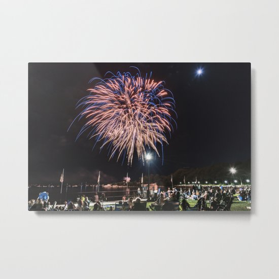 Gloucester Fireworks #2 Metal Print