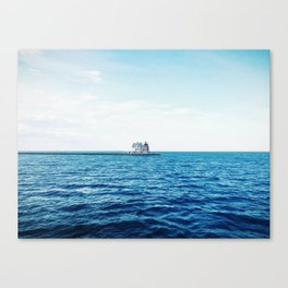 Rockland Harbor Lights from the Ferry Canvas Print