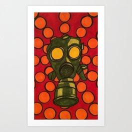 Gas Mask 002 Art Print