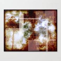Forest Memories Abstract Orange Fire Canvas Print
