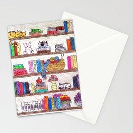 Colored booshelf! Stationery Cards