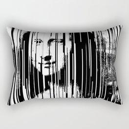 Mona Lisa Barcode Huge Limited Print 2017 Rectangular Pillow