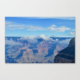 morning clouds forming Canvas Print