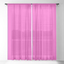 just pink Sheer Curtain