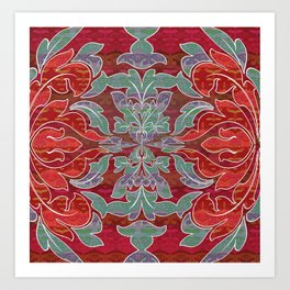 Boujee Boho Collection Deep Red Seal Art Print