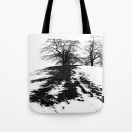Black on white Tote Bag