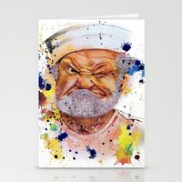 popeye Stationery Cards featuring The real popeye-Ron Everett by Liza's Brushes