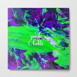 Abstract Jingle Bells Metal Print