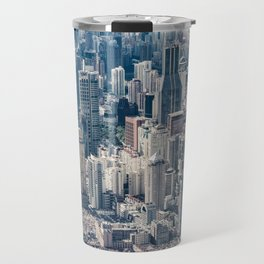 Twilight Shanghai city China aerial view Travel Mug