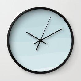 Light blue waves. Wall Clock