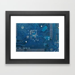 Electronic circuit board Framed Art Print