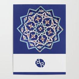 Rubino Mandala Design Pattern Purple Poster