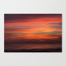 When sun goes down Canvas Print