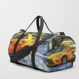 New York Taxis Art Duffle Bag