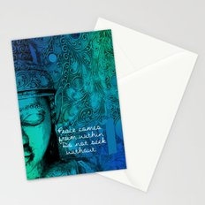Aqua Buddha Stationery Cards