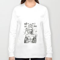 tupac Long Sleeve T-shirts featuring Tupac: On the 3rd day HE ROSE A G. by Maddison Bond