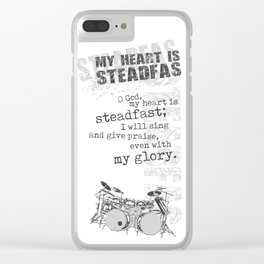 My heart is steadfast Clear iPhone Case