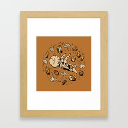 Triceratops Rocks! | Citrine Quartz Framed Art Print