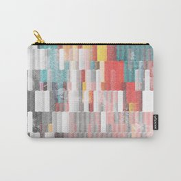 Vibrant Graffity on Black and White Geometry Carry-All Pouch