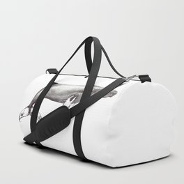 Humpback whale black and white ink ocean decor Duffle Bag