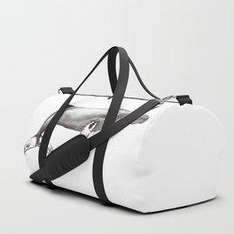 Humpback whale black and white ink ocean decor Duffle Bag