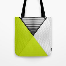 Black White and Bright Yellow Tote Bag