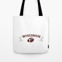 Just a Baller from Wisconsin Football Player Tote Bag