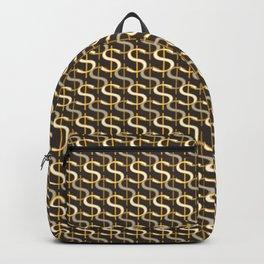 Grey Money Pattern Backpack