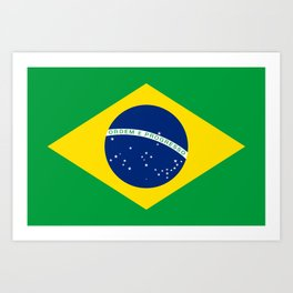 Flag of Brazil - Hi Quality Authentic version Art Print