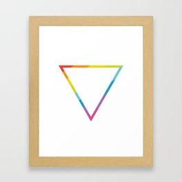 Pride: Rainbow Geometric Triangle Framed Art Print